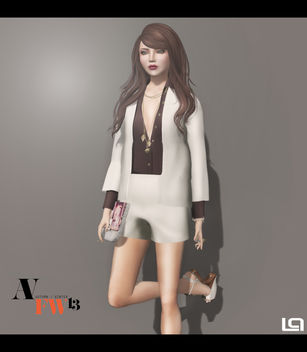 AFWFW2103 - NYU - Open-Front Shirt w Coat Combo (Look 4) - Close - бесплатный image #315907