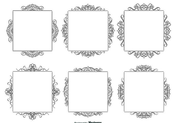 Decorative Calligraphic Frames Set - vector #317477 gratis