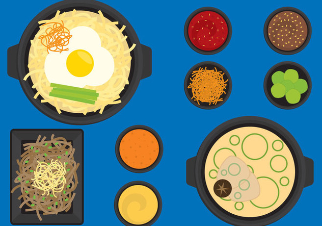 Korean Food - Free vector #317487