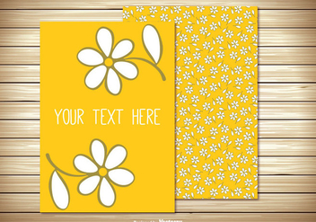 Cute Floral Greeting Card - Free vector #317497