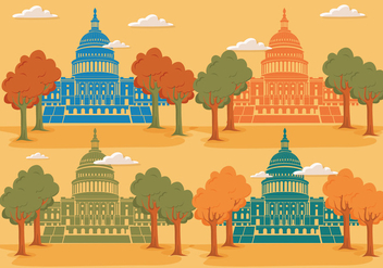 Simple vector us capitals - Free vector #317577