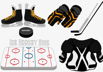 Ice hockey rink vector - vector gratuit #317597