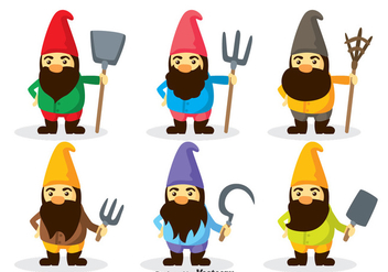 Gnome Characters Vector - Free vector #317687
