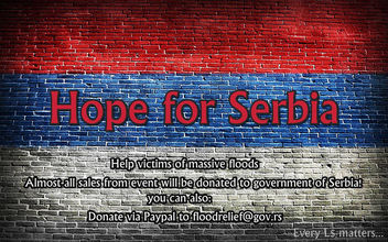 HOPE FOR SERBIA <3 - SL Event - Help victims of massive floods! - Kostenloses image #318427