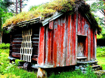 Norwegian Log cabin #viking #dailyshoot #Molde - Free image #323467