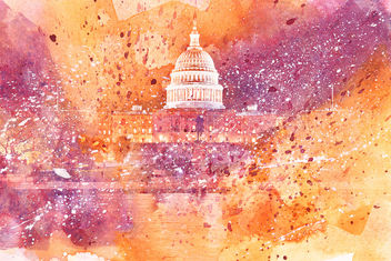 Acrylic DC Capitol - Yellow & Purple - Free image #324357