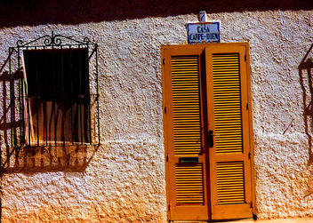 Tabarca Yellow Door #Spain #dailyshoot #iphone #leshainesimages - Free image #324397