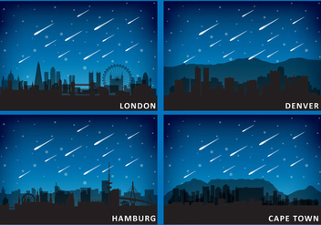 Meteors And Cities - vector gratuit #326637