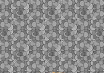 Black And White Abstract Circle Pattern - Free vector #326677