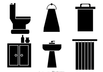 Bathroom Cabinet Black Vectors - Free vector #326727