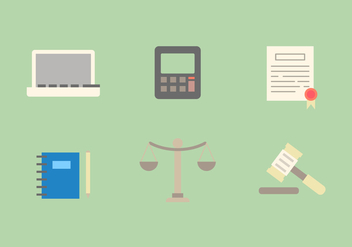 Free Law Office Vector Icons #5 - Free vector #326747
