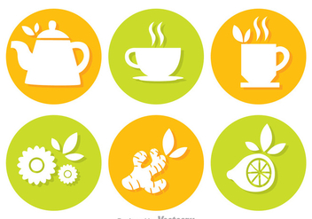Tea Circle Vectors - vector gratuit #326757