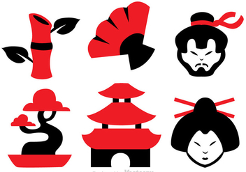 Chinese Culture Vector Icons - бесплатный vector #326767