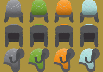 Fur Hat Vectors - Free vector #327047