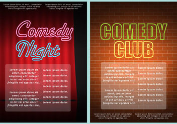 Comedy Club Flyers - vector gratuit #327057