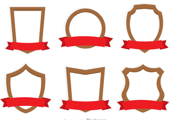 Shield And Ribbon Icons - Free vector #327107