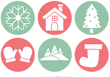 Winter Circle Vectors - vector gratuit #327167