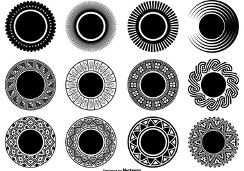 Decorative Circle Shapes - Free vector #327357