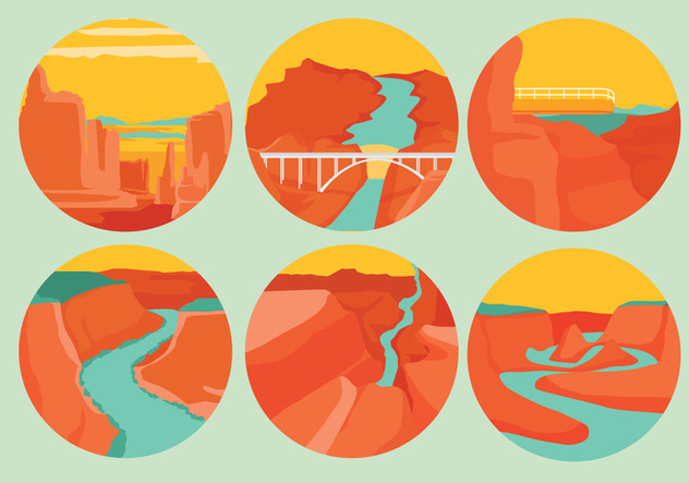 Grand Canyon Vectors - vector gratuit #327407