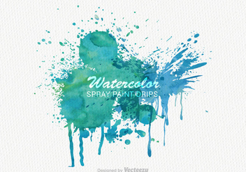 Free Vector Watercolor Paint Banner - vector gratuit #327427