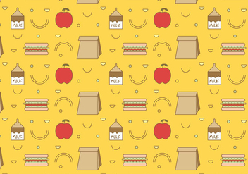 Free School Lunch Vector Pattern #3 - vector gratuit #327457