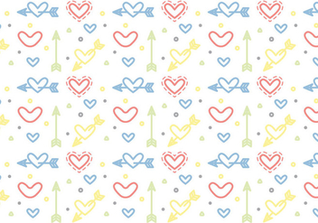 Free Heart Vector Pattern #5 - Free vector #327497