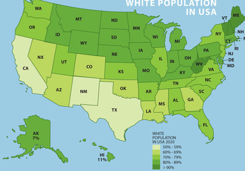 White Population In USA - бесплатный vector #327527