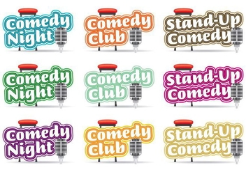 Comedy Logos Titles - Free vector #327537