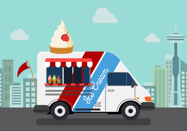 Vector Ice Cream Truck - Free vector #327627