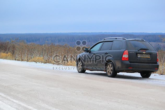 Car on a road at countryside - бесплатный image #327747