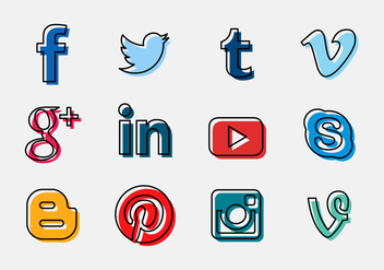 Vector Social Media Logo Icon - vector gratuit #327947