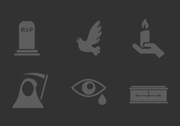 Vector Mourning Icon Set - Free vector #327977