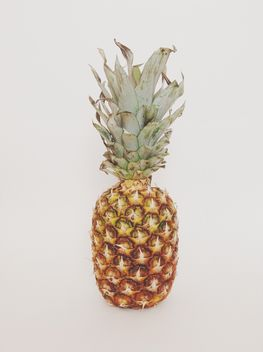Pineapple on a white background. - бесплатный image #328167