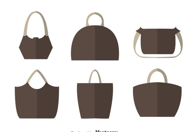 Simple Bag Flat Vectors - vector gratuit #328207
