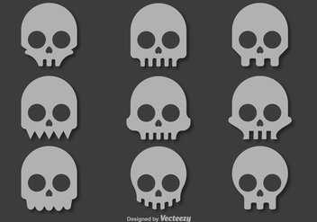 Skull vector icons - Free vector #328277
