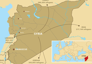 Vector Syria Map - Free vector #328297