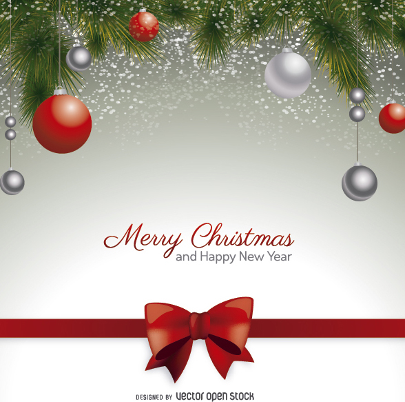 Weihnachts-Postkarte Mit Roten Pfeil Und Bogen Weihnachten Kugeln ...