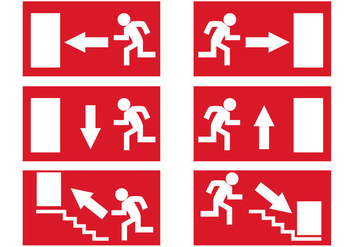Free Emergency Exit Signs Vector - vector gratuit #328697