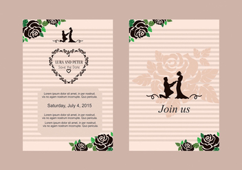 Rose Wedding Invite Vector - vector #328717 gratis