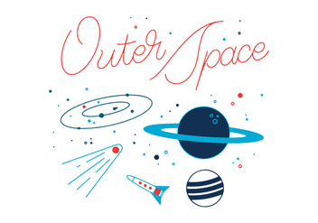 Free Outer Space Vector - бесплатный vector #328727
