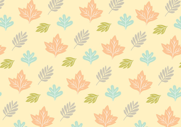 Leafy Pattern Background Vector - vector gratuit #328757