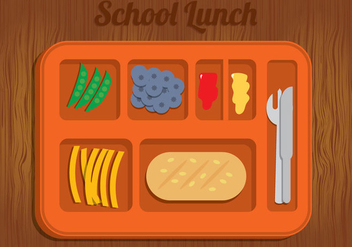 School Lunch Illustration Vector - vector gratuit #328777
