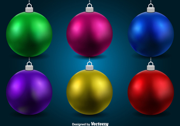 Christmas spheres - Free vector #328827