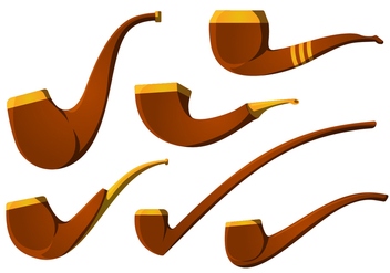The Vintage Tobacco Pipe Vector Pack - Free vector #328837