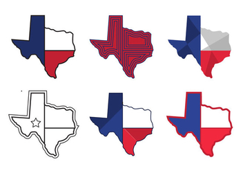 Texas Map Vector Icons #1 - бесплатный vector #328867