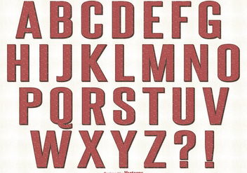 Retro Style Alphabet Set - Free vector #328877