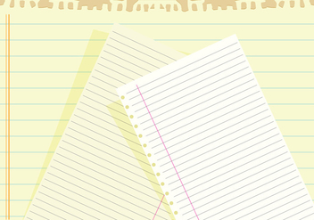 Notebook paper background vector - Free vector #328927