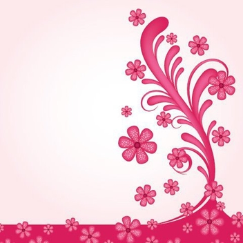 Pinkish Floral Swirls Wallpaper - Free vector #328947