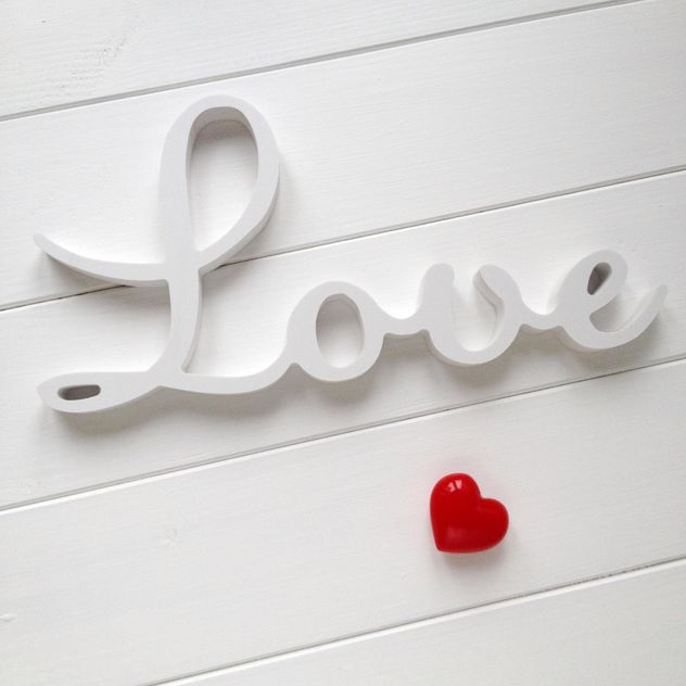Word Love and red heart - image #329087 gratis