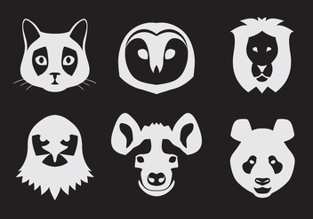 Vector Set of Animal Portraits - vector #329337 gratis